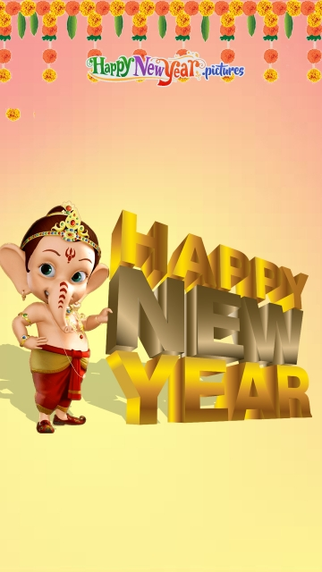 Happy New Year With Lord Ganesha
