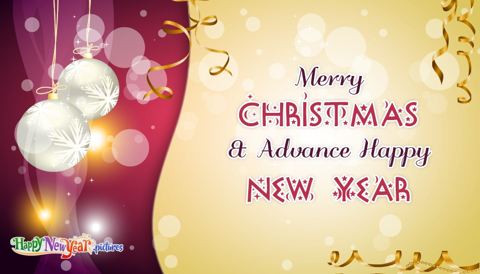Merry Christmas And Advance Happy New