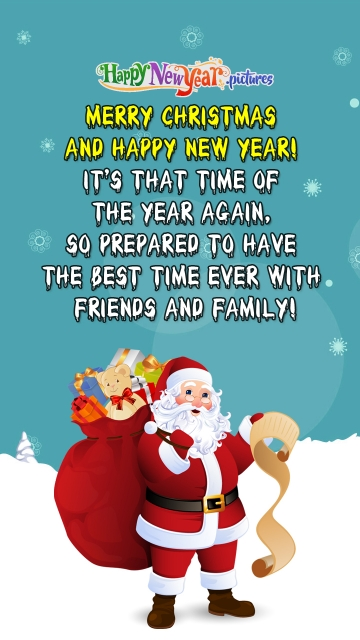 Merry Christmas and Happy New Year Wishes Quotes