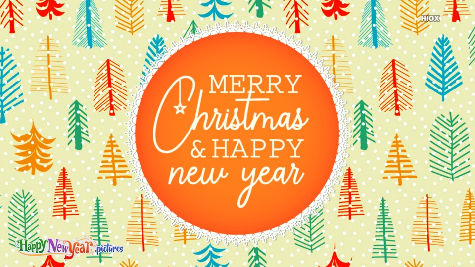 Happy New  Year Christmas And New Year