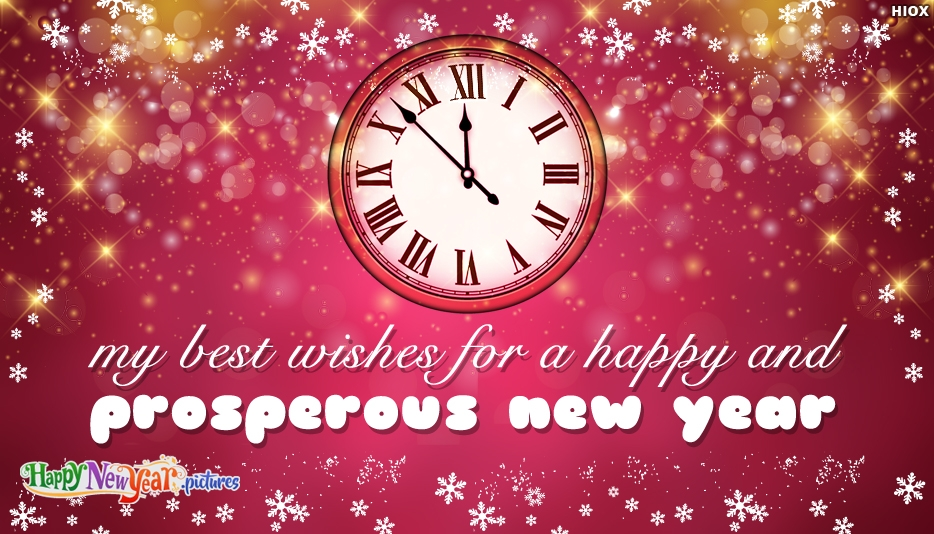My Best Wishes For A Happy and Prosperous New Year