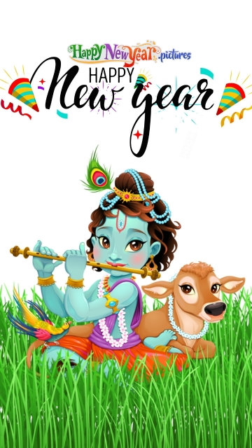 Happy New Year Wishes With Krishna Blessings
