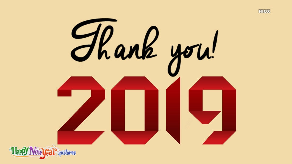 Thank You 2019 In English
