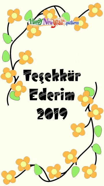 Thank You 2019 In Turkish