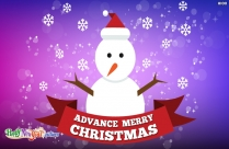 Advance Christmas
