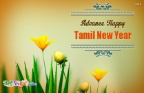 Advance Happy Tamil New Year Wishes