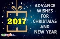 Advance Wishes For Christmas and New Year