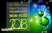 Best Wishes For A Happy Healthy And Prosperous New Year