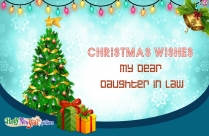 Christmas Wishes To My Daughter In Law