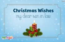 Christmas Wishes To My Son In Law