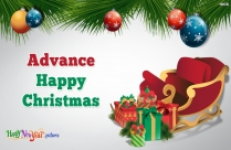Happy Christmas In Advance Image