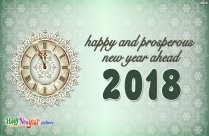 Happy And Prosperous New Year Ahead
