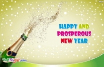 Happy And Prosperous New Year Wishes