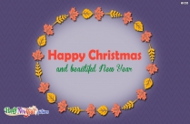 Happy Christmas And Beautiful New Year