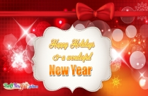 Happy Holidays And A Wonderful New Year Image