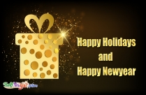 Happy Holidays And Happy New Year