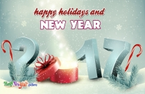Happy Holidays And New Year Wishes
