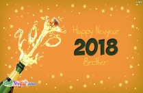 Happy New Year 2018 Brother