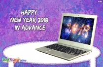 Happy New Year 2018 In Advance