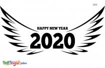 Happy New Year 2020 Art