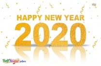 Happy New Year 2020 Text Png