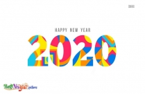 Happy New Year 2020 Illustration