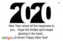 Happy New Year 2020 Message