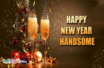 Happy New Year Handsome Image
