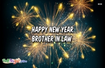 Happy New Year Brother In Law Image