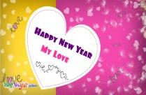 Happy New Year Ecard To Love
