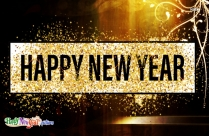 Happy New Year Glitter Wallpaper