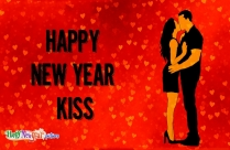 Happy New Year Kiss
