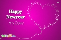 Happy New Year Love Greeting Card
