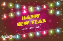 Happy New Year Mom And Dad Image