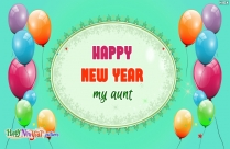 Happy New Year My Aunt