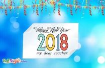 Happy New Year My Dear Teacher