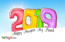 Happy New Year My Friend Images