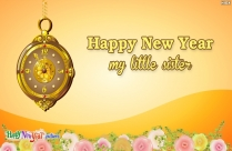 Happy New Year My Little Sister
