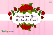 Happy New Year My Lovely Friend Image