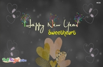 Happy New Year My Sweetheart Image