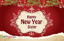 Happy New Year Sister Image