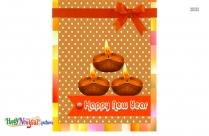 Happy New Year Diyas Image