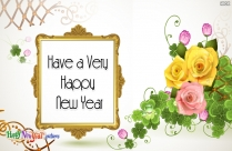 Happy New Year Template Card