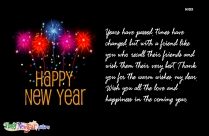 Happy New Year Thank You Quote Picture