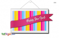 Happy New Year Color Image