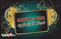 Happy New Year To My Family