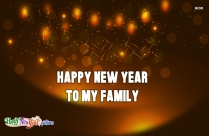Happy New Year To My Family Image