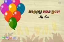Happy New Year To My Love Image