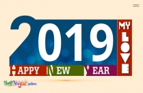Happy New Year To My Love 2019
