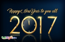 Happy New Year To You All